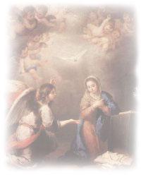 Archangel Gabriel With Mary